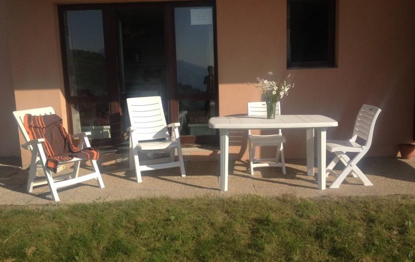 Location de vacances - Appartement à Valmeinier - Terrasse  d'été