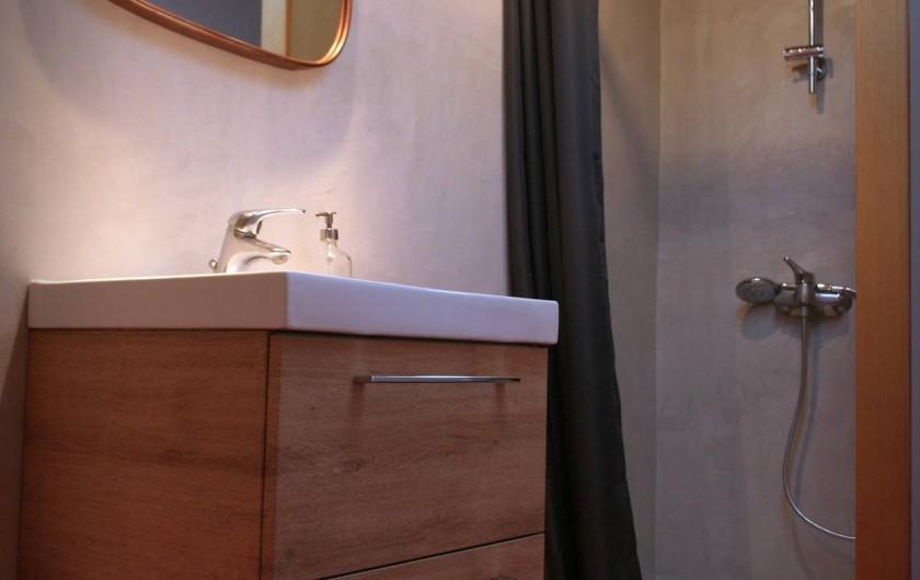 Location de vacances - Appartement à Puy-Saint-Martin - Salle de bain (avec lave linge).