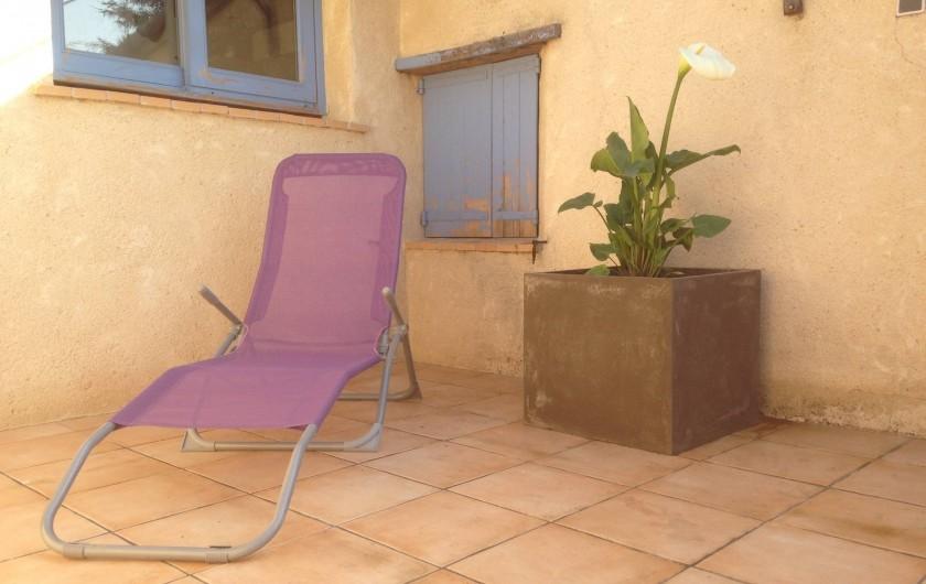 Location de vacances - Appartement à Puy-Saint-Martin - Terrasse.