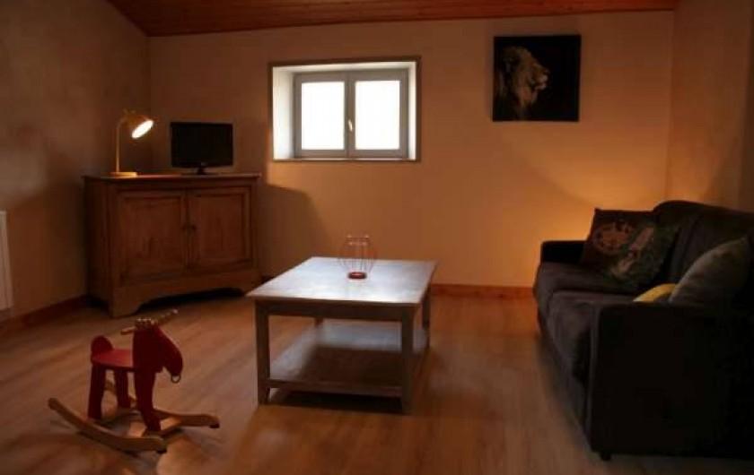 Location de vacances - Appartement à Puy-Saint-Martin - Salon télé (home cinéma).