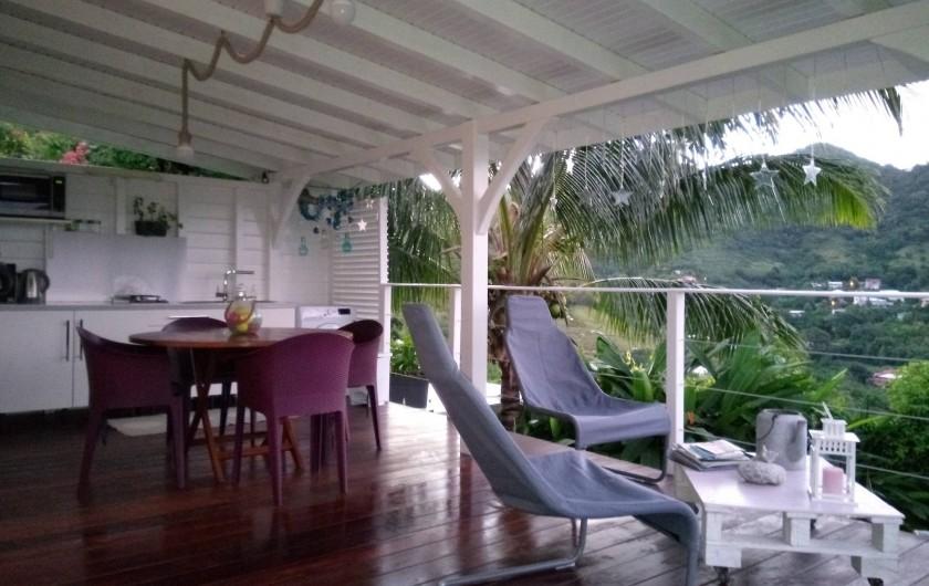 Location de vacances - Maison - Villa à Le Diamant - Espace détente face aux mornes
