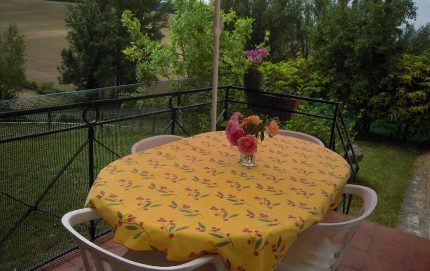 Location de vacances - Gîte à Pailloles - TERRASSE CUISINE