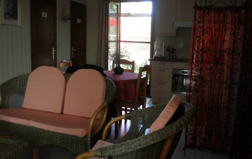Location de vacances - Maison - Villa à Portiragnes Plage - vue du living vers l'arrière