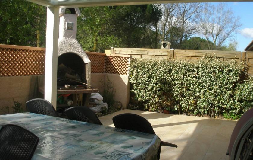 Location de vacances - Maison - Villa à Portiragnes Plage - terrasse arrière