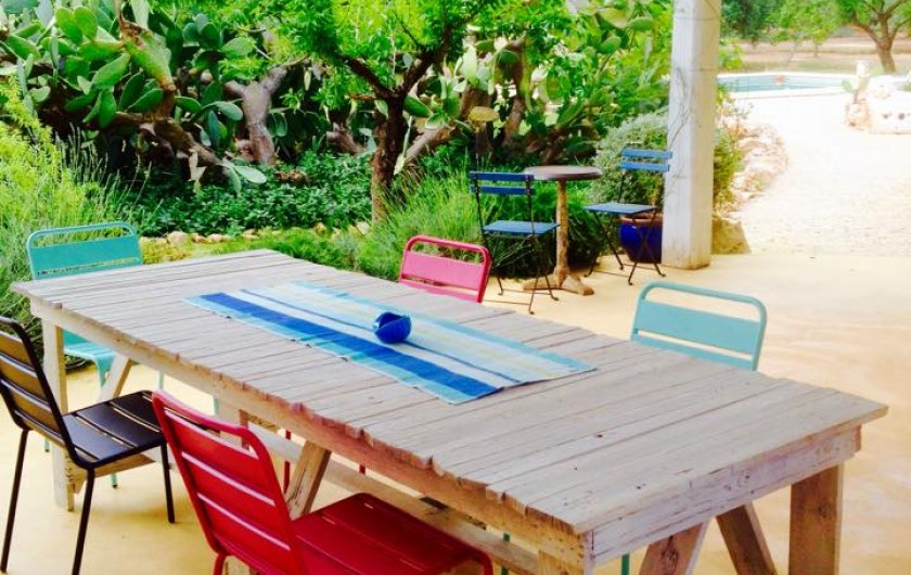Location de vacances - Villa à San Vito dei Normanni - salle à manger extérieure