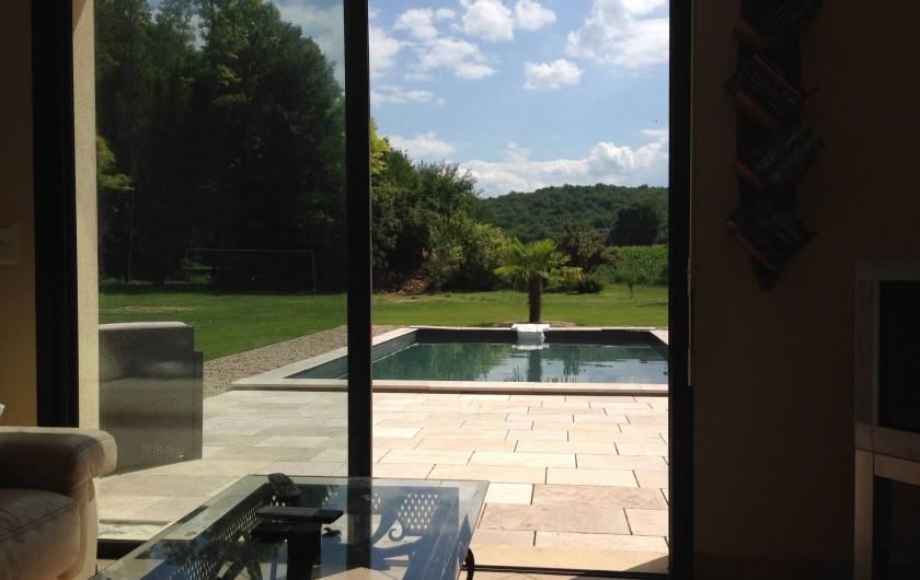 Location de vacances - Maison - Villa à Saint-Amand-de-Coly - vue séjour