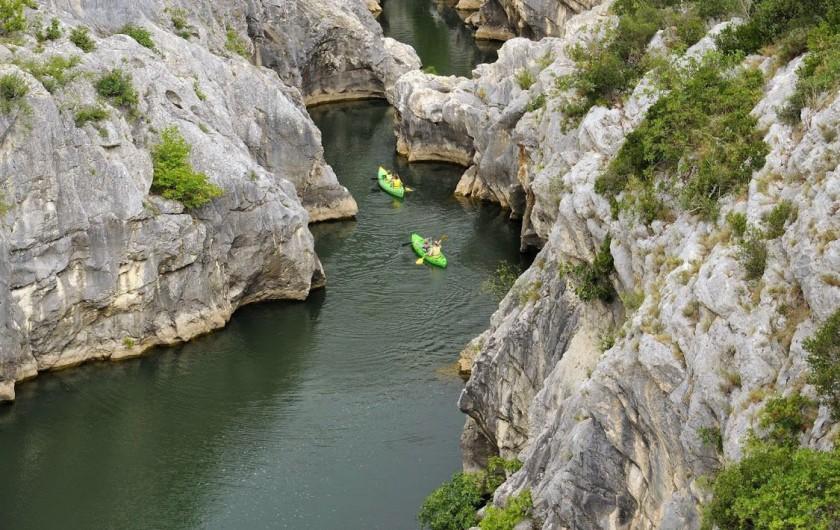 Location de vacances - Gîte à Montpeyroux - kayak dans les gorges de l'Hérault