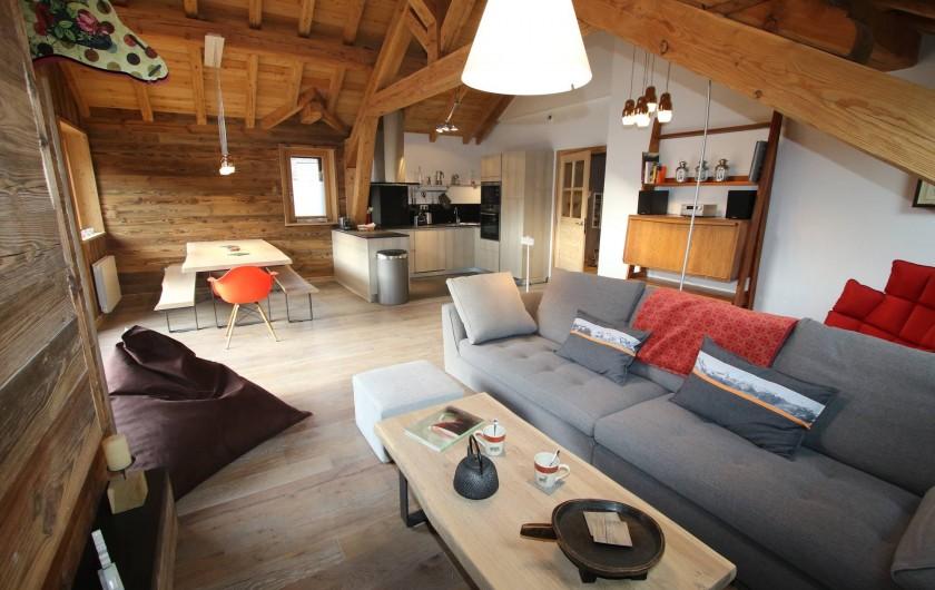 Location de vacances - Appartement à La Salle-les-Alpes - Pièce à vivre : vue générale