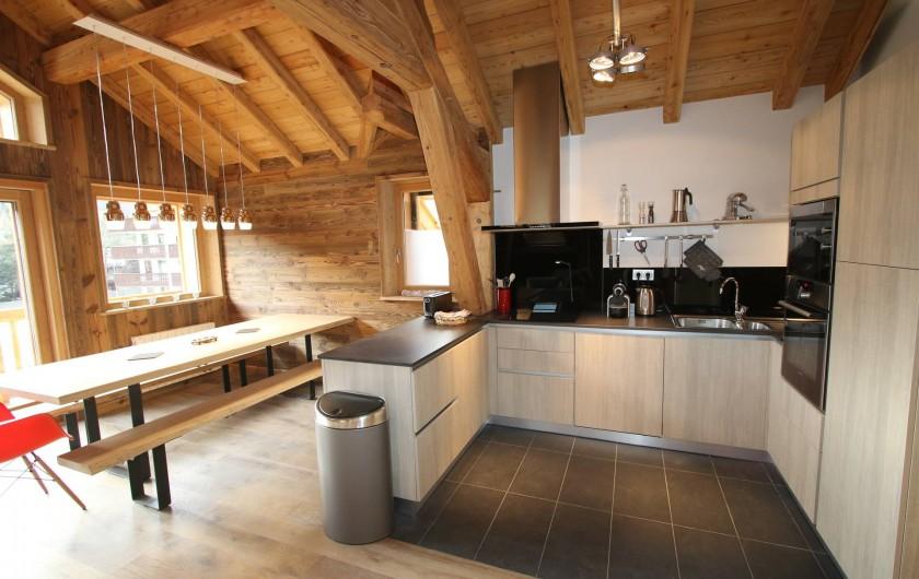 Location de vacances - Appartement à La Salle-les-Alpes - Cuisine / salle à manger