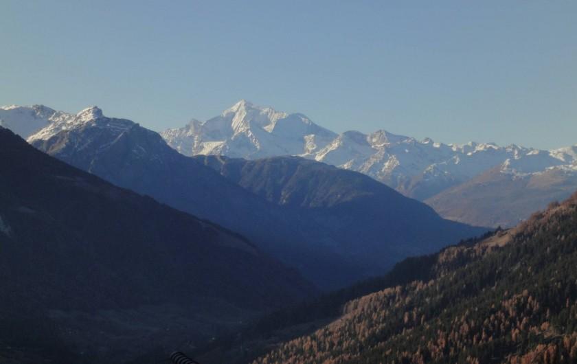 Location de vacances - Chalet à Bellwald - Vue depuis le balcon