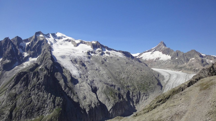 Glacier de Fiesch avec Finsteraarhorn