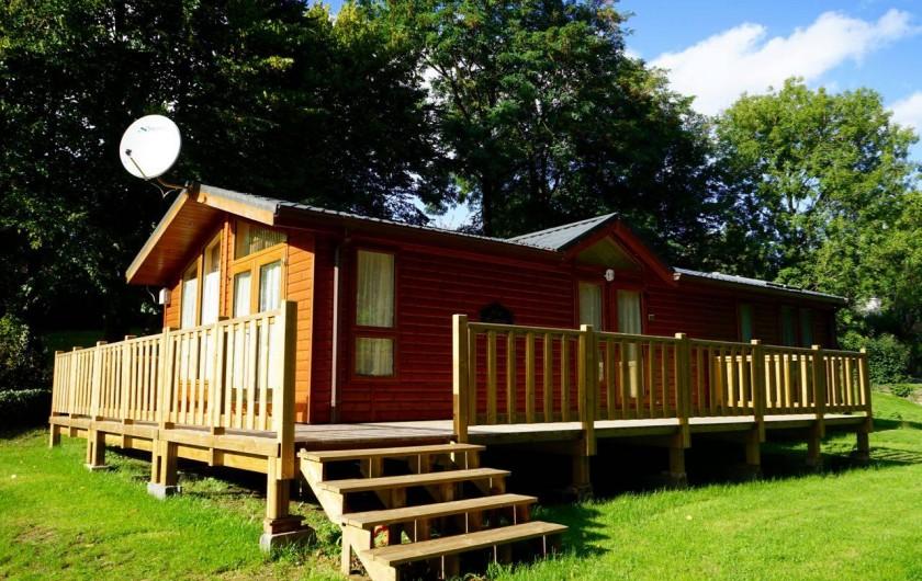 Location de vacances - Camping à Warlincourt-lès-Pas - Le mobil home très haut de gamme, unique en France