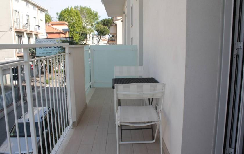 Location de vacances - Appartement à Rimini - balcon