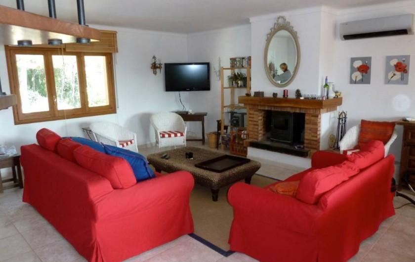 Location de vacances - Villa à Tamariu - Living