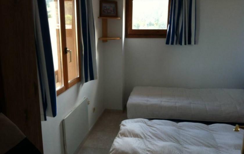 Location de vacances - Villa à Tamariu - Petite chambre 2 lits jumeaux avec vue sur la mer