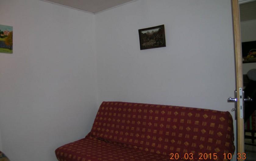Location de vacances - Appartement à Bessèges - Salon/Chambre
