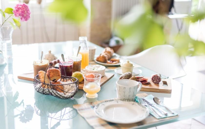 Location de vacances - Gîte à Bourg sur Gironde - petit déjeuner