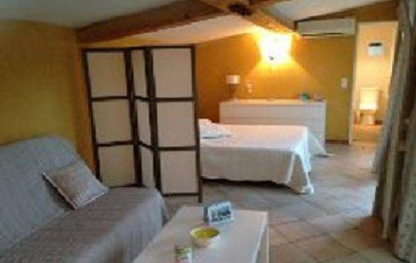 Location de vacances - Mas à Tarascon - SALON COUCHAGE CLIC CLAC-CHAMBRE LIT 160