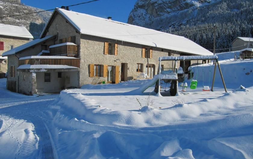 Location de vacances - Chambre d'hôtes à Saint-Julien-en-Vercors - L'Hiver.