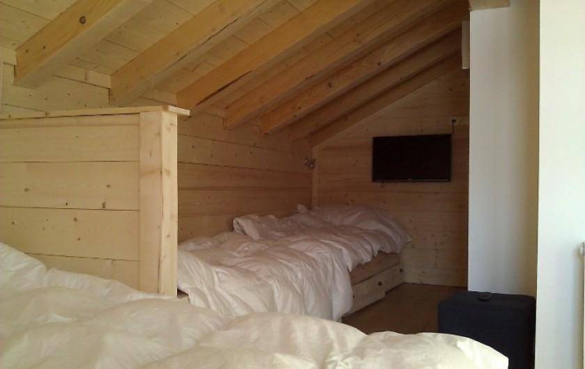 Location de vacances - Chalet à Montgenèvre - Grande chambre 3