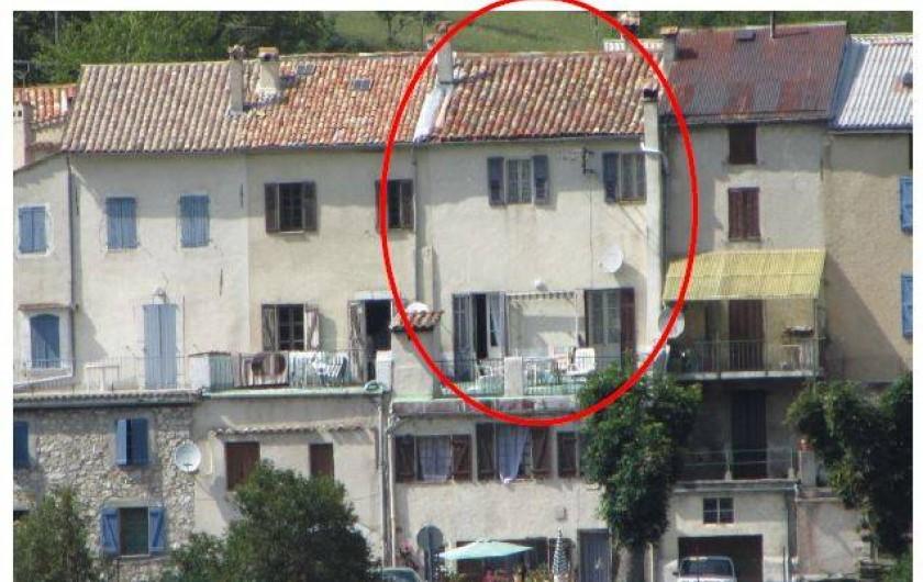 Location de vacances - Maison - Villa à Caille - maison côté sud. L'entrée se fait côté nord