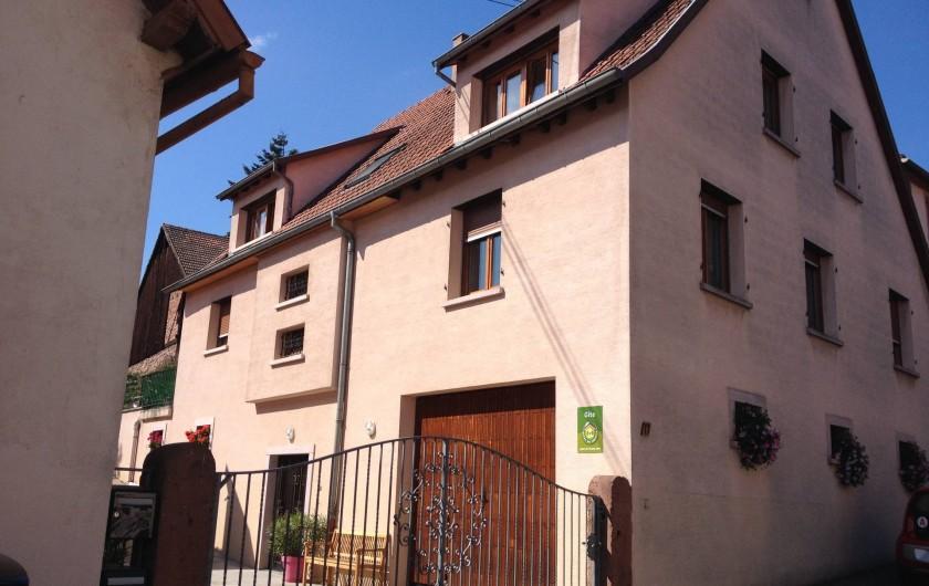 Location de vacances - Appartement à Orschwiller - Notre maison avec les gites au second étage