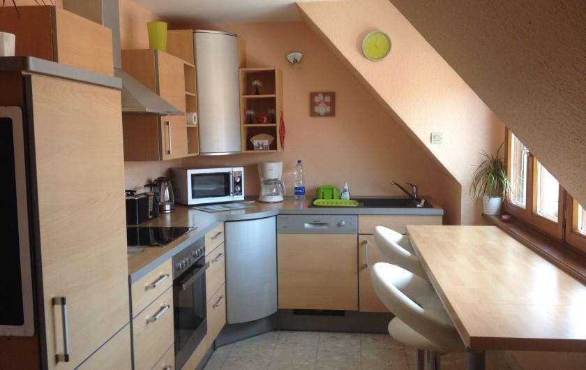 Location de vacances - Appartement à Orschwiller - Cuisine du DUPLEX
