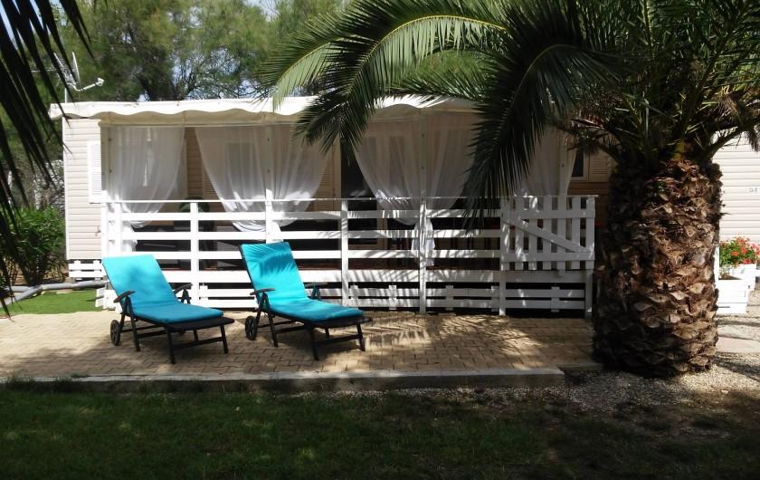 Location de vacances - Camping à Vias - mobil home  -  parcelle 200 m²