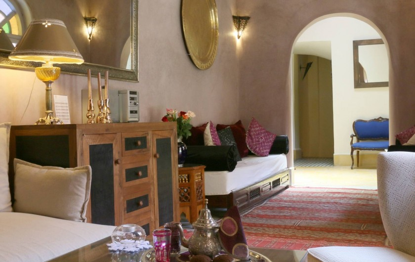 Location de vacances - Riad à Marrakech - Grand Salon