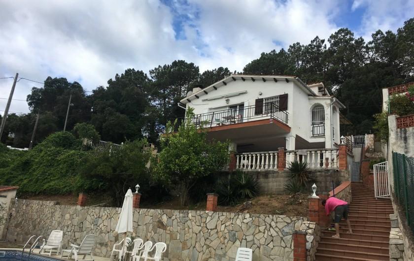 Location de vacances - Villa à Lloret de Mar - entrée piscine avec portillon   sécurisé  ferme a clé