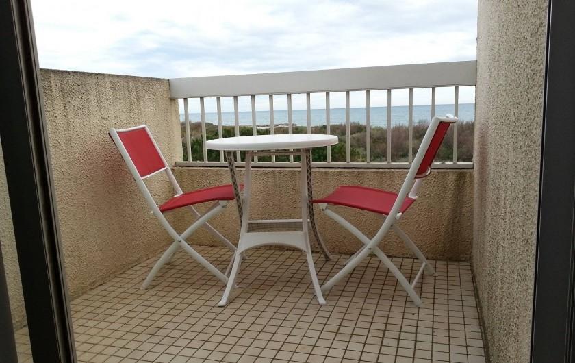 Location de vacances - Appartement à Saint-Cyprien Plage - balcon chambre 1