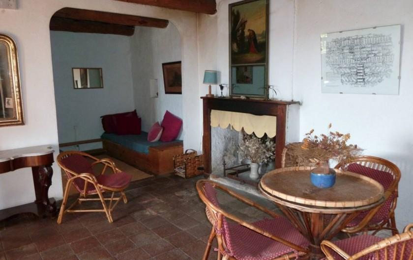 Location de vacances - Mas à Saint-Roman-de-Codières - Le salon