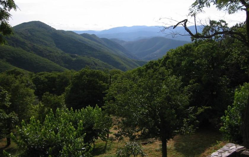 Location de vacances - Mas à Saint-Roman-de-Codières - La vue depuis la maison