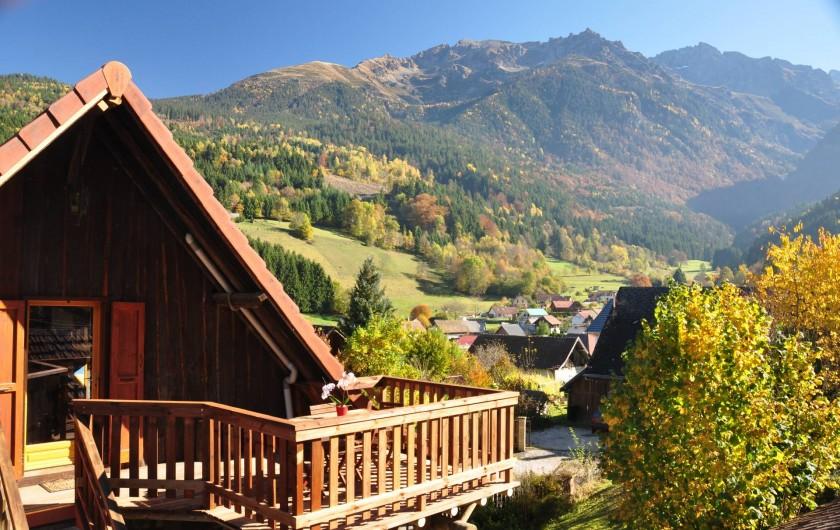 Location de vacances - Gîte à Grenoble - Nouvelle terrasse panoramique exposée plein sud