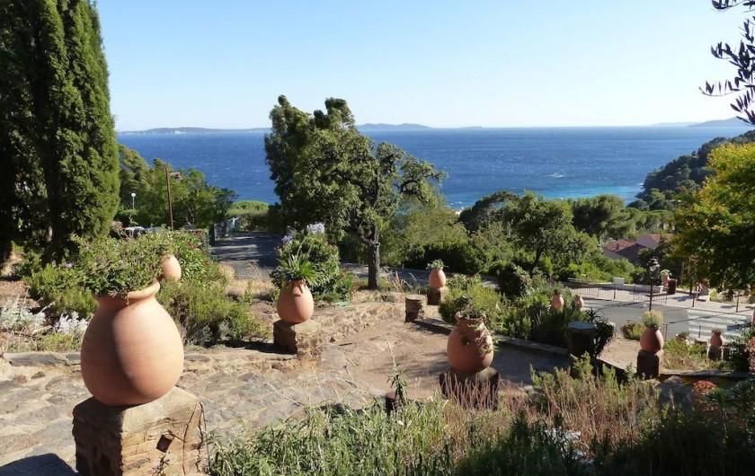 Location de vacances - Villa à Rayol-Canadel-sur-Mer - Escalier descendant à la mer