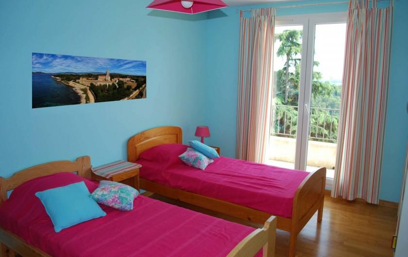 Location de vacances - Villa à La Roquette-sur-Siagne - Chambre 3