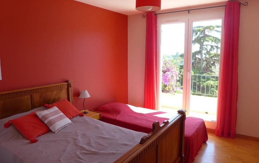 Location de vacances - Villa à La Roquette-sur-Siagne - Chambre 2