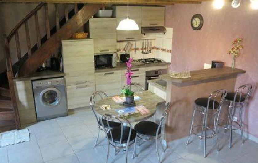 Location de vacances - Gîte à Saint-Pierre-de-Nogaret - Coin cuisine toute équipée.