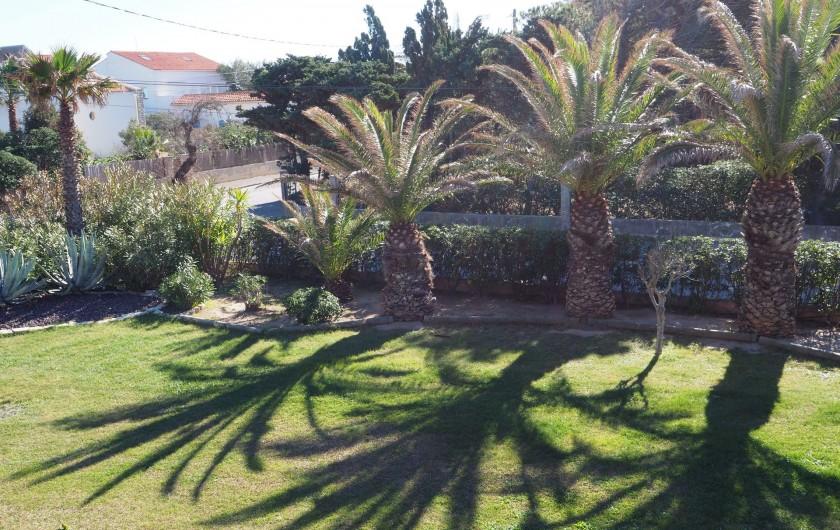 Location de vacances - Studio à Hyères - Vue sur jardin depuis la terrasse
