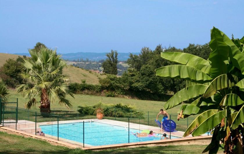 Location de vacances - Villa à Sauvelade - Grande piscine  (12 x 6 m)