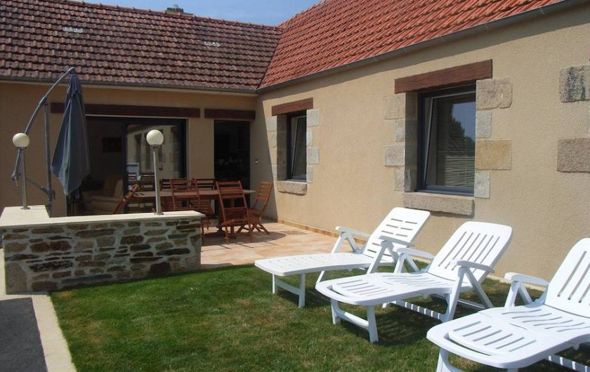 Location de vacances - Maison - Villa à Lanmeur - vue terrasse plein sud