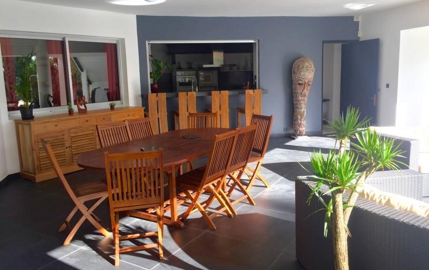 Location de vacances - Villa à Saint-Pierre - Vue de la varangue