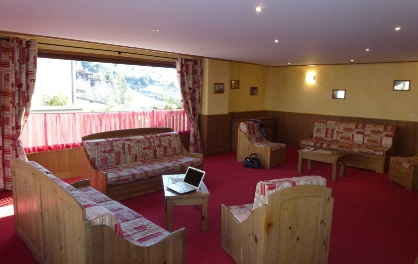 Location de vacances - Appartement à Aussois - Salon commun avec accès WIFI