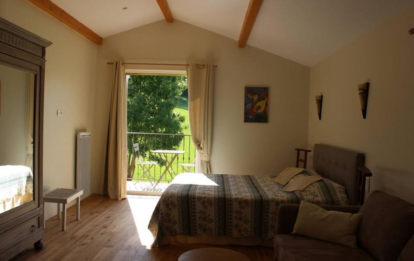 Location de vacances - Chambre d'hôtes à Bajamont - chambre N°4 belle romaine lit 160