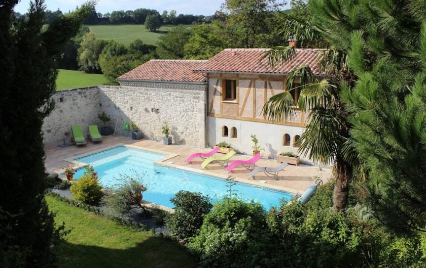 Location de vacances - Chambre d'hôtes à Bajamont - piscine
