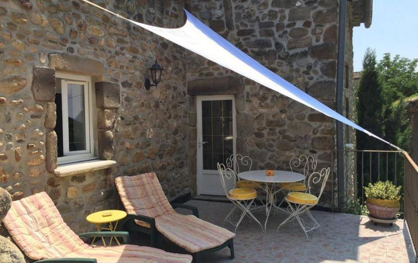 Location de vacances - Gîte à Saint-Jean-de-Valériscle - Gîte Le Soleil du Sud, terrasse
