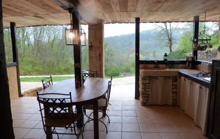 Location de vacances - Villa à Auriac-du-Périgord - CUISINE EXTERIEUR
