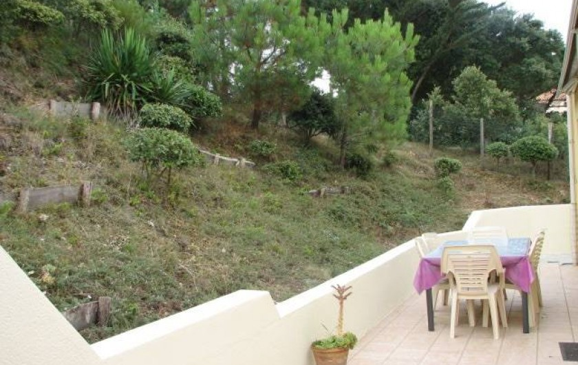 Location de vacances - Villa à Saint-Michel-Chef-Chef - arrière maison, dune arborée  et terrasse