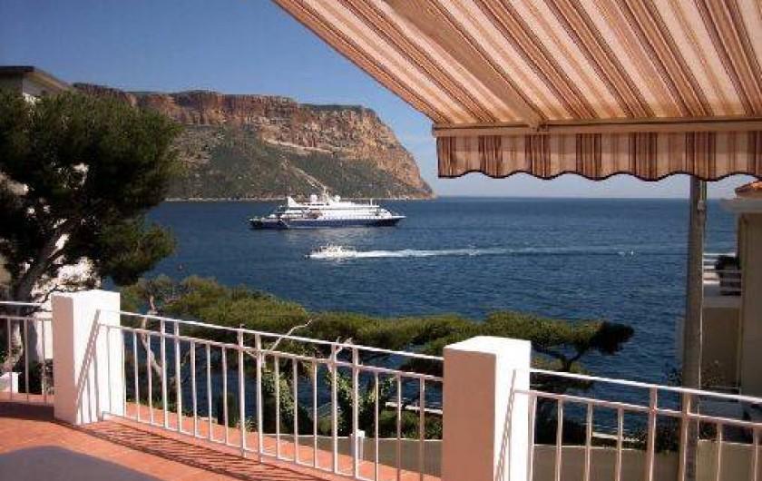 Location de vacances - Appartement à Cassis - Vue de la terrasse