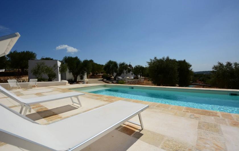 Location de vacances - Villa à Ostuni - 10m x 5m piscina avec vue panoramique
